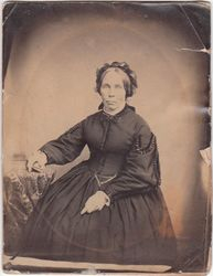 Salt print of unidentified woman