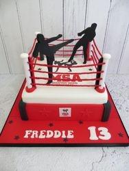 Muay Thai 13th Birthday Cake