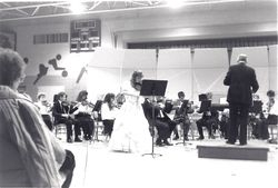 Sherry playing with her high school orchestra