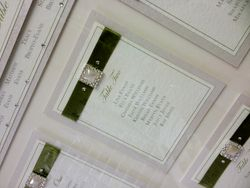 Framed Table Plan Ribbon Tracy Style Close Up