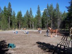 Outdoor Arena - Plenty of room for group practice.