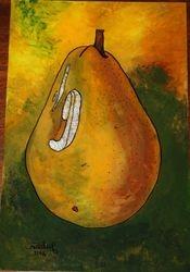 Reverse Art: Pear 2