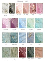 Sheer Metallic Table Runner -Available 21 colors