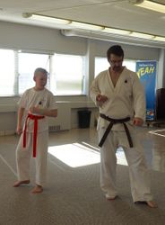 1st Gup Todd Arsenault teaches a Form