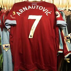 Marko Arnautovic worn, signed 2018/19 home shirt.