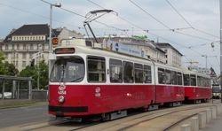 SGP built E2 class tram, at Ring-Oper