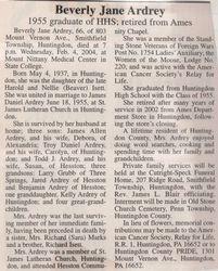 Ardrey, Beverly Jane Isett 2004