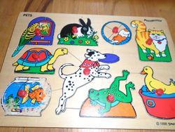 Small World Toys Wooden 9 Piece Pets Puzzle - $5