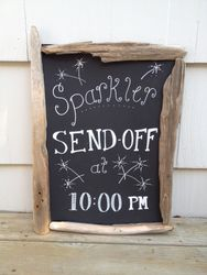 Sparkler Send off sign
