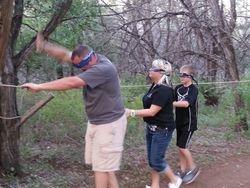 Low ropes challenge - Matt, Lisa and Kolton