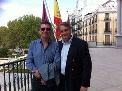 With Sax Giant Francisco Martinez