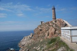The lighthouse we walked to from Camarinas