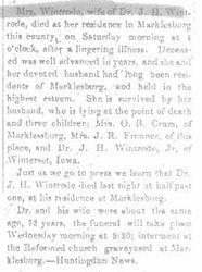 Wintrode, J. 1895