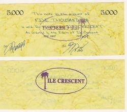 Ile Crescent 5,000 Poa