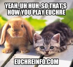 Yeah, uh huh, so that's how you play Euchre.