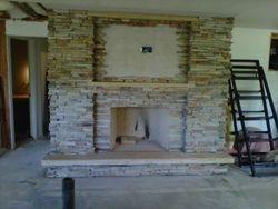 Virginia ledgestone fireplace Boulder Colorado