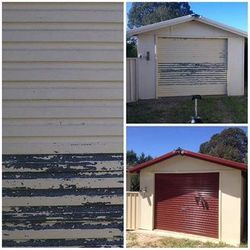 Garage - before and after