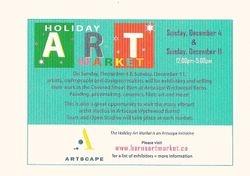 Holiday Art Market, Dec. 11, 2011