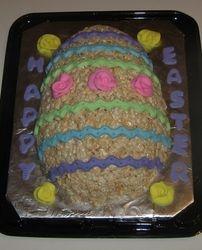 Rice Krispie Easter Egg