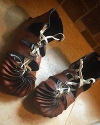 Medieval celtic shoes