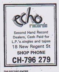 Echo Records Advert 1985