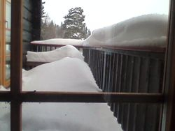Snow on the veranda