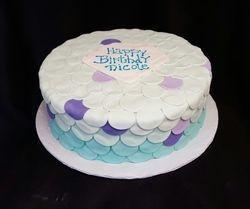 Mermaid Scales Cake