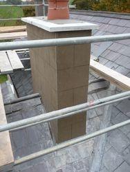 finished chimney stack