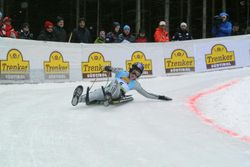 Jack Leslie racing Kindberg