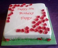 poppy birthday cake