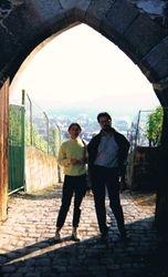 With Nika, Esslingen, Germany, 1995