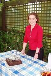 Carly with her 21st Birthday Cake