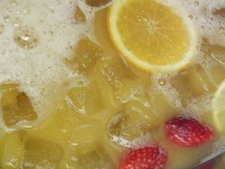Mixed fruit punch an excellent alcoholic or non alcoholic entry drink.
