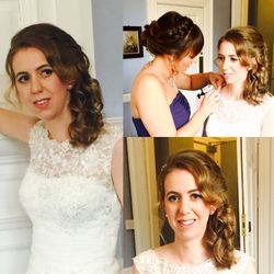Long soft curls for our beautiful bride Nicola