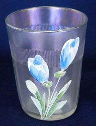 (Enameled) Dianthus/Crocus with Prism Band, white, Fenton