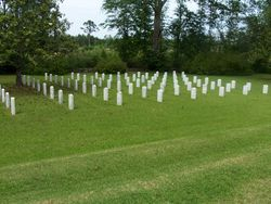 Graves at Camp Moore