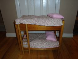 "Solid Wood Bunk Beds for 18"" Dolls- American Girl or Our Generation - $50"