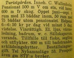 Turistgarden, Nyhamn 1941