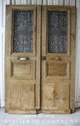 SOLD #22/219 Oak Doors with Cast Iron Grill SOLD