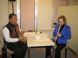 Shakuhachi Lesson in Japan November 2009