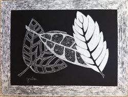 Leaves Etching