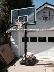 lifetime portable basketball hoop assembly service in halethorpe MD