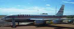 QANTASs first Jet, an old 707 at QANTAS Founders Museum - Sep 2007
