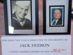 Show was dedicated to the late Jack Hudson