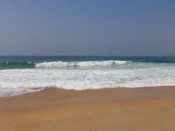The beach near the marina in Nazare