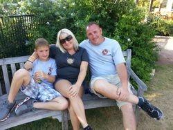 Kolton, Lisa and Matt Whisenant