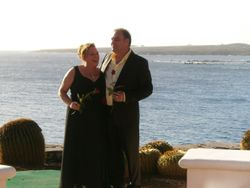 The happy couple after the ceremony