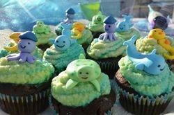 Baby Sea Animal Cupcakes