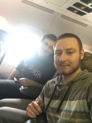 TC Keating and Neslo on plane