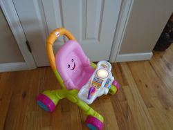 Fisher Price Stroll and Learn Doll Walker - Pink - $17